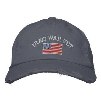 米国旗を持つイラク戦争の獣医 刺繍入りキャップ