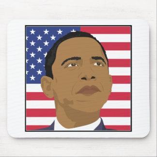 米国旗を持つオバマ マウスパッド