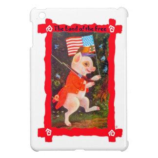 米国旗を持つブタ iPad MINIケース
