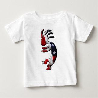 米国旗ココペリ ベビーTシャツ