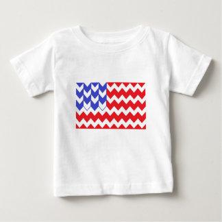 米国旗シェブロン ベビーTシャツ