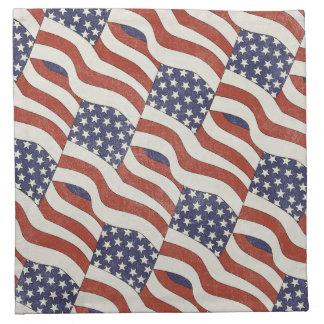 米国旗パターン布のナプキン(4)の置いて下さい ナプキンクロス