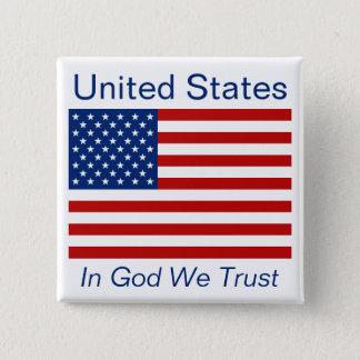 米国旗ボタン 缶バッジ