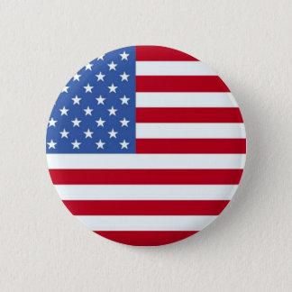 米国旗ボタン 5.7CM 丸型バッジ