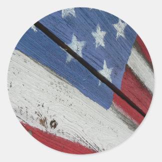 米国旗木穀物 ラウンドシール