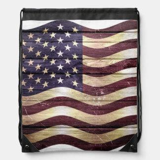 米国旗木 ナップサック