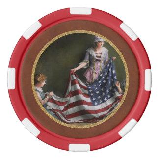 米国旗1915年のアメリカの-旗-誕生 ポーカーチップ