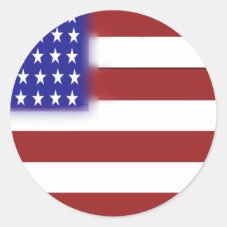 米国旗1 ラウンドシール
