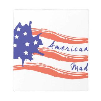 米国旗 ノートパッド