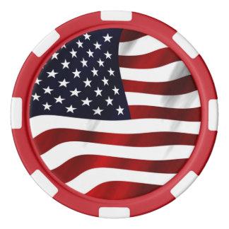 米国旗 ポーカーチップセット