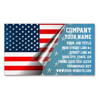 米国旗 マグネット名刺 (25枚パック)