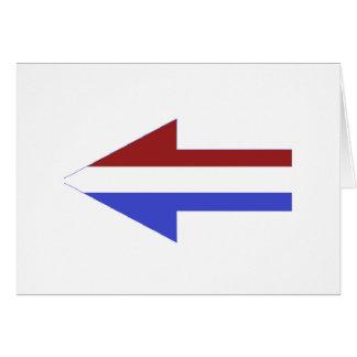 米国旗-ユニークな形 カード
