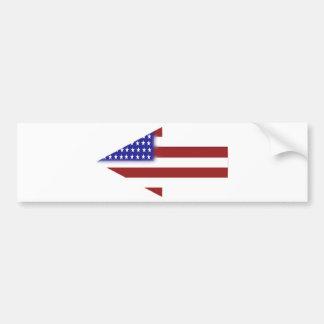 米国旗-ユニークな形 バンパーステッカー