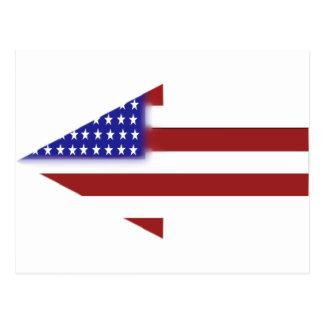 米国旗-ユニークな形 ポストカード