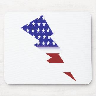 米国旗-ユニークな形 マウスパッド