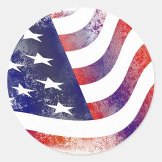 米国旗 ラウンドシール