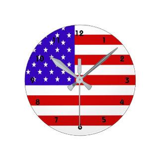 米国旗 ラウンド壁時計