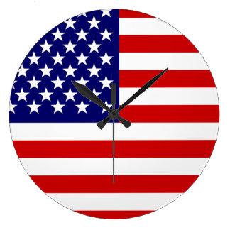 米国旗 ラージ壁時計