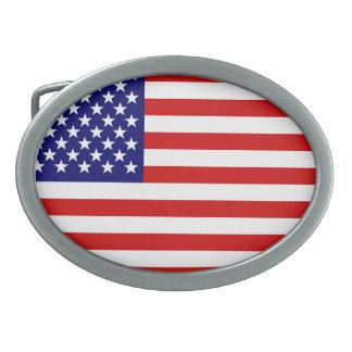 米国旗 卵形バックル