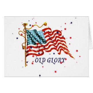米国旗、古い栄光 カード