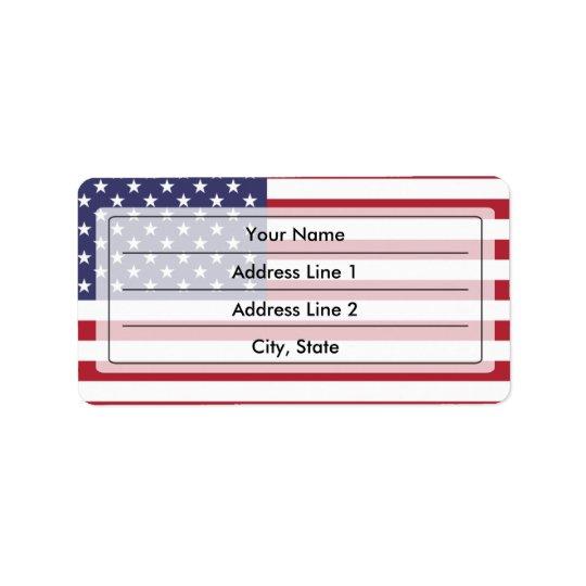 米国旗 宛名ラベル