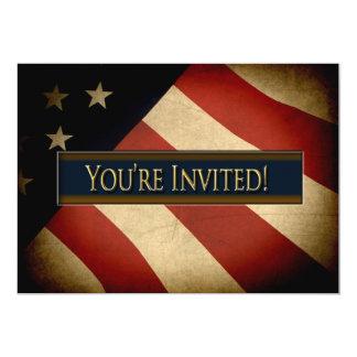 米国旗-招待状 カード