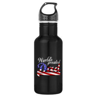 米国旗-暗闇を持つ世界のすばらしいパパ ウォーターボトル