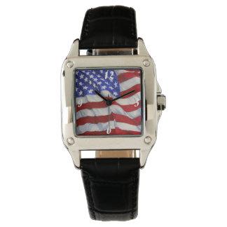 米国旗-正方形の腕時計 腕時計