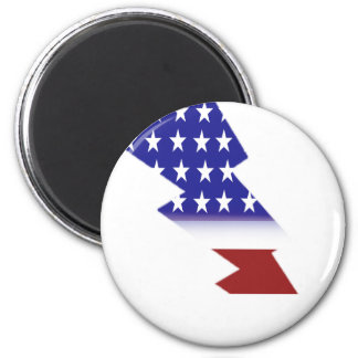 米国旗-稲妻の形 マグネット