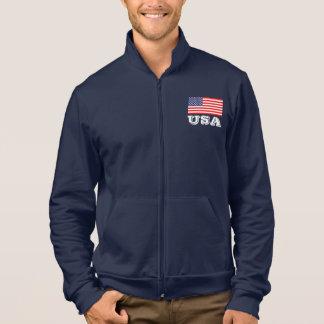 米国旗|米国が付いている愛国心が強いトラックジャケット ジャケット