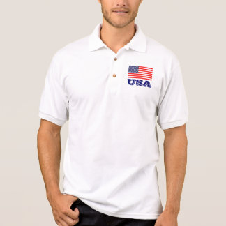 米国旗|米国が付いている愛国心が強いポロシャツ ポロシャツ