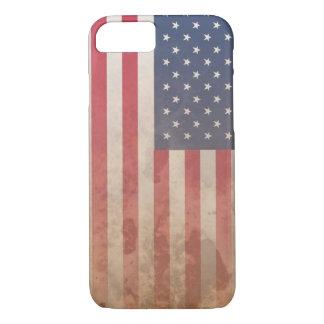 米国旗、米国のグランジな愛国心(米国) iPhone 8/7ケース