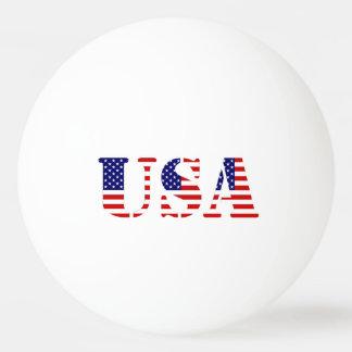 米国旗-米国の文字 ピンポンだま