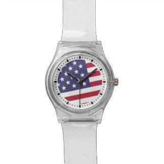 米国旗-米国を祝って下さい- 7月4日のクラシック 腕時計