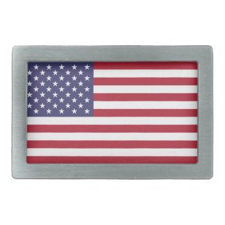 米国旗 長方形ベルトバックル