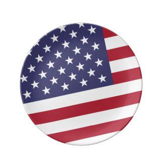 米国旗- Aの米国を祝って下さい 磁器プレート
