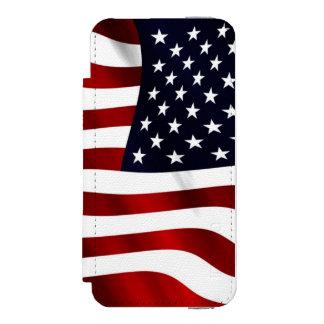米国旗 iPhone SE/5/5sウォレットケース