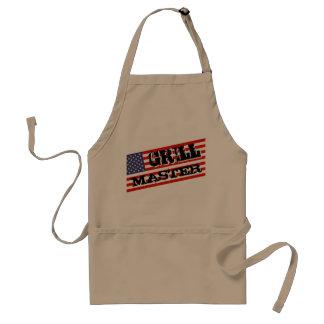 米国旗BBQのエプロン ベージュ色 スタンダードエプロン