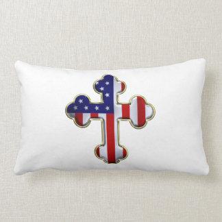 米国旗Cross2 ランバークッション