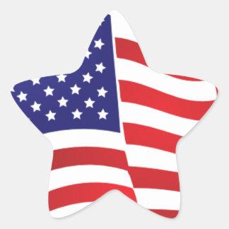 米国旗ONDULATING -大きいスパンコールの旗の星 星形シール・ステッカー