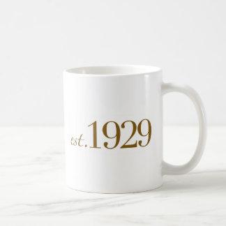米国東部標準時刻1929年 コーヒーマグカップ