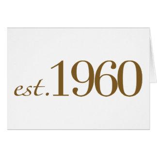 米国東部標準時刻1960年 カード
