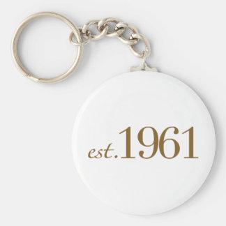 米国東部標準時刻1961年(誕生年) キーホルダー