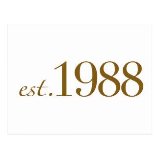 米国東部標準時刻1988年 ポストカード