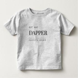 米国東部標準時刻2017の軽快な幼児のTシャツ(黒いプリント) トドラーTシャツ