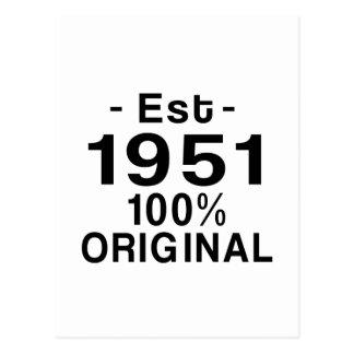 米国東部標準時刻. 1951年 はがき