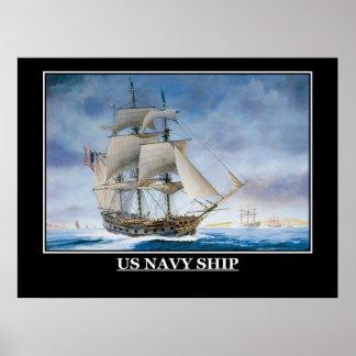 米国海軍帆船のヴィンテージポスター ポスター