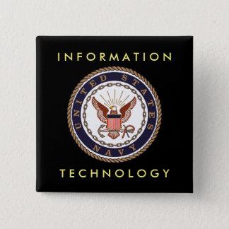米国海軍情報技術 5.1CM 正方形バッジ