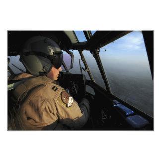 米国空軍C-130Jヘラクレスパイロット フォトプリント