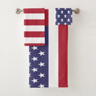 米国米国の米国旗 バスタオルセット